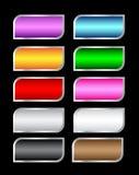 五颜六色的不对称的按钮向量 免版税库存照片