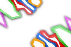 五颜六色的不规则形状边界,抽象背景 图库摄影