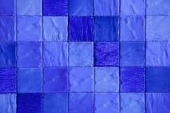五颜六色的与正方形的瓦片无缝的样式 库存图片