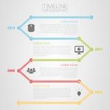 五颜六色的与象的时间安排infographic模板传染媒介 免版税库存照片