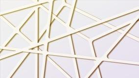 五颜六色的与连接线的梯度摘要分子多角形背景 库存照片