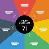 五颜六色的与说明文本领域的整个背景条纹难题介绍图infographic模板 免版税库存图片