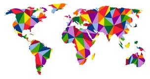 五颜六色的世界地图 免版税库存图片