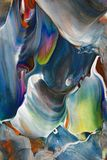 五颜六色的丙烯酸酯的绘画 免版税库存照片