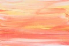 五颜六色的丙烯酸酯被弄脏的被绘的背景 免版税库存照片