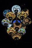 五颜六色的东方灯 免版税库存图片