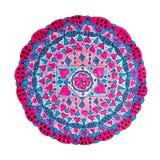 五颜六色的东方装饰手拉的坛场样式 免版税库存照片