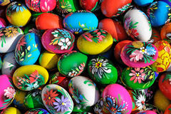 五颜六色的东部鸡蛋 库存图片