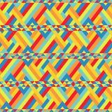 五颜六色的丝带一定在无缝的样式 免版税库存照片