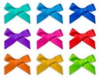 五颜六色的丝带弓/弓 库存照片