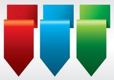 五颜六色的丝带横幅。 免版税库存图片