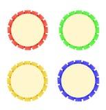 五颜六色的丝带玫瑰华饰是成功和一等奖的标志 库存图片