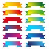 五颜六色的丝带集合传染媒介 向量例证