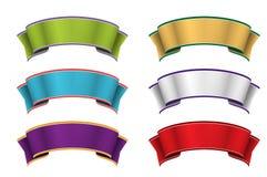 五颜六色的丝带 图库摄影