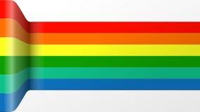 五颜六色的丝带 免版税库存照片