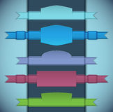 五颜六色的丝带 免版税库存图片