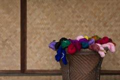 五颜六色的丝绸 免版税库存照片