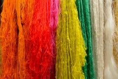 五颜六色的丝绸 库存照片
