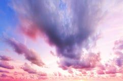 五颜六色的严重的天空 图库摄影