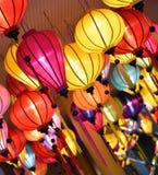 五颜六色的中国灯笼 免版税库存照片