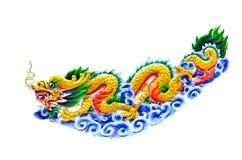五颜六色的中国龙 免版税库存照片