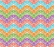 五颜六色的之字形无缝的样式。雪佛传染媒介背景 库存照片