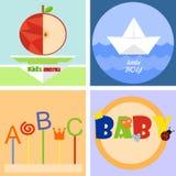 五颜六色的乐趣儿童商标或象征 库存图片