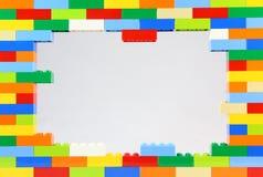 五颜六色的乐高框架 免版税库存图片