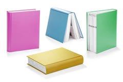五颜六色的书设置与裁减路线 库存图片