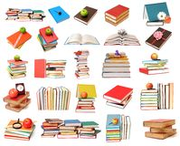 五颜六色的书 免版税库存图片