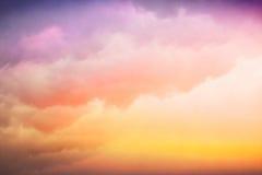 五颜六色的云彩梯度 免版税库存照片