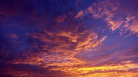 五颜六色的云彩 免版税图库摄影