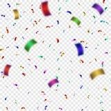 五颜六色的五彩纸屑传染媒介例证 库存图片