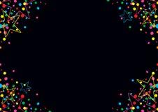 五颜六色的五彩纸屑和星 免版税库存图片