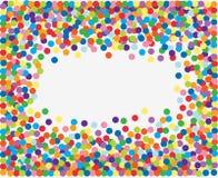 五颜六色的五彩纸屑框架 库存例证