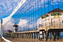 五颜六色的亨廷顿海滩码头 免版税库存照片