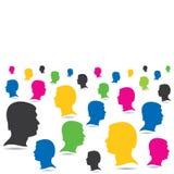 五颜六色的人人群背景 免版税库存图片
