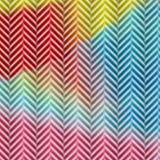 五颜六色的人字形模式 库存照片