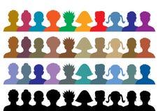 五颜六色的人群例证 库存照片