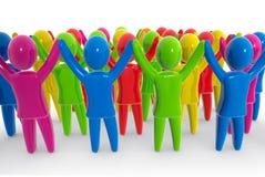 五颜六色的人群 免版税图库摄影