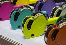 五颜六色的价格贴标签机 免版税图库摄影