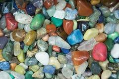 五颜六色的优美的石头 库存照片