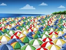 五颜六色的伞 向量例证