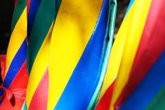 五颜六色的伞 库存图片