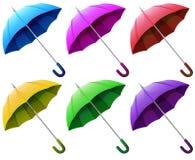 五颜六色的伞 皇族释放例证