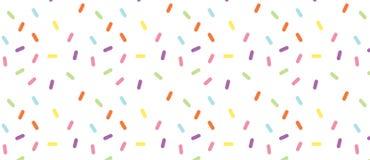 五颜六色的传染媒介五彩纸屑样式 多彩多姿的棍子 面包店主题的多福饼,多福饼 皇族释放例证