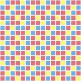 五颜六色的传染媒介方形的网格图形 无缝的纹理 库存例证
