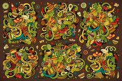 五颜六色的传染媒介乱画拉美设计 库存图片