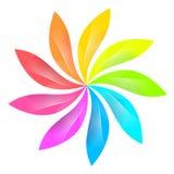 五颜六色的传染媒介商标 库存照片