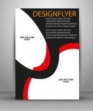 五颜六色的传染媒介小册子设计 事务的飞行物模板 图库摄影